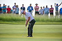 Charley Hoffman (USA) watches his putt on 11 during Thursday's round 1 of the 117th U.S. Open, at Erin Hills, Erin, Wisconsin. 6/15/2017.<br /> Picture: Golffile | Ken Murray<br /> <br /> <br /> All photo usage must carry mandatory copyright credit (&copy; Golffile | Ken Murray)