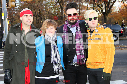 NEW YORK, NY - NOVEMBER 22: Neon Trees at the 86th Annual Macy's Thanksgiving Day Parade on November 22, 2012 in New York City. Credit: RW/MediaPunch Inc. /NortePhoto