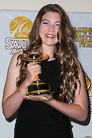 BURBANK, CA, USA - JUNE 26: Actress Abigail Hargrove poses in the press room at the 40th Annual Saturn Awards held at The Castaway on June 26, 2014 in Burbank, California, United States. (Photo by Xavier Collin/Celebrity Monitor)