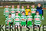 The Killarney Celtic team that played Killorglin in Celtic Park on Saturday front row l-r: Miguel Amenigo. Harry Buckley. Craig Boyle-O'Sullivan, Cian Doe, Matt Fleming. Back row: Oisin Walsh, Ronan Buckley, Darragh Cremins, Niall Carey, Adam Carey, William Shine, Terry Sparling