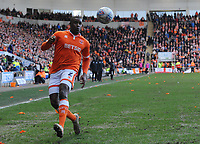 Blackpool's Donervon Daniels<br /> <br /> Photographer Kevin Barnes/CameraSport<br /> <br /> The EFL Sky Bet League One - Blackpool v Southend United - Saturday 9th March 2019 - Bloomfield Road - Blackpool<br /> <br /> World Copyright © 2019 CameraSport. All rights reserved. 43 Linden Ave. Countesthorpe. Leicester. England. LE8 5PG - Tel: +44 (0) 116 277 4147 - admin@camerasport.com - www.camerasport.com