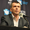 Mikhail Prokhorov, owner of the Brooklyn Nets, speaks about the organization's search for a new coach and general manager during a news conference at Barclays Center on Monday, Jan. 11, 2016.