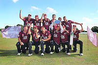 Winners Brentwood CC - Essex Cricket League Dukes T20 Finals Day at Billericay Cricket Club - 28/07/13 - MANDATORY CREDIT: Gavin Ellis/TGSPHOTO - Self billing applies where appropriate - 0845 094 6026 - contact@tgsphoto.co.uk - NO UNPAID USE