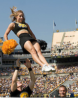 September 20, 2008: Iowa cheereleader. The Pitt Panthers defeated the Iowa Hawkeyes 21-20 on September 20, 2008 at Heinz Field, Pittsburgh, Pennsylvania.