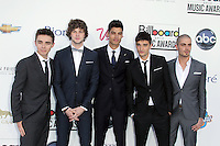 Nathan Sykes, Jay McGuiness, Siva Kaneswaran, Tom Parker and Max George of The Wanted at the 2012 Billboard Music Awards held at the MGM Grand Garden Arena on May 20, 2012 in Las Vegas, Nevada. © mpi28/MediaPUnch Inc.