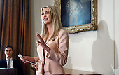 Ivanka Trump speaks during a cabinet meeting in the Cabinet Room of the White House, July 18, 2018 in Washington, DC. <br /> Credit: Olivier Douliery / Pool via CNP