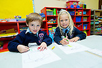Left-Right: Cameron Novak, and Kaley Leen on their first day in Junior Infants at Ardfert NS on Tuesday