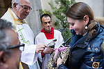 A tortoise is blessed by a priest at San Anton church in Madrid marking San Anton Abad's Day (Saint Anthony), on January 17, 2016. Pet animals, many dressed in their finest, trooped into churches across Spain in search of blessing on the patron saint of animals Saint Anthony's Day.  (ALTERPHOTOS/Rodrigo Jimenez)