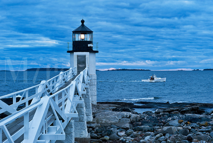 Marshall Point Light, Port Clyde, Maine, ME, USA