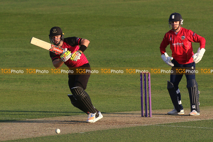 Chris Nash in batting action for Sussex as Adam Wheater looks on from behind the stumps during Essex Eagles vs Sussex Sharks, Royal London One-Day Cup Cricket at The Cloudfm County Ground on 10th May 2017