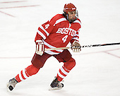 Jeremy Hynes (BU - 4) - The Boston College Eagles defeated the visiting Boston University Terriers 6-2 in ACHA play on Sunday, December 4, 2011, at Kelley Rink in Conte Forum in Chestnut Hill, Massachusetts.