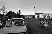 Aldan, Yakutia, Russia  .May-June 1997.Daily life in the streets of Aldan, the major center for gold mining in southern Yakutia. Little of the wealth that lies beneath the feet of the residence is ever seen. Their lives are worse now then in the days of USSR..