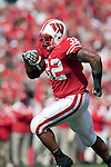 Wisconsin Badgers running back John Clay (32) carries the ball during an NCAA college football game against the Austin Peay Governors on September 25, 2010 at Camp Randall Stadium in Madison, Wisconsin. The Badgers beat the Governors 70-3. (Photo by David Stluka)