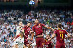 Real Madrid Sergio Ramos and A.S. Roma Steven Nzonzi during UEFA Champions League match between Real Madrid and A.S.Roma at Santiago Bernabeu Stadium in Madrid, Spain. September 19, 2018. (ALTERPHOTOS/Borja B.Hojas)