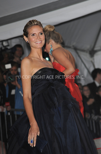 WWW.ACEPIXS.COM . . . . . ....May 4 2009, New York City....Heidi Klum arriving at 'The Model as Muse: Embodying Fashion' Costume Institute Gala at The Metropolitan Museum of Art on May 4, 2009 in New York City.....Please byline: KRISTIN CALLAHAN - ACEPIXS.COM.. . . . . . ..Ace Pictures, Inc:  ..tel: (212) 243 8787 or (646) 769 0430..e-mail: info@acepixs.com..web: http://www.acepixs.com