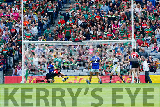 Andy Moran Mayo scores his side's 2nd goal in the All Ireland Semi Final Replay in Croke Park on Saturday.