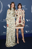 Charlotte Wiggins and Sam Rollinson at the IWC Schaffhausen Gala Dinner in honour of the BFI at the Electric Light Station, Shoreditch, London on October 9th 2018<br /> CAP/ROS<br /> ©ROS/Capital Pictures