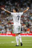 MADRID, ESPANHA, 29 AGOSTO 2012 - SUPERCUP DA ESPANHA -  REAL MADRID X BARCELONA - Cristiano Ronaldo jogador do Real Madrid durante partida contra o Barcelona na final da da Supercup da Espanha contra o Barcelona em , no estadio Santiago Bernabeu, em Madri na Espanha, nesta quarta-fera, 29. (FOTO: ALFAQUI / BRAZIL PHOTO PRESS).