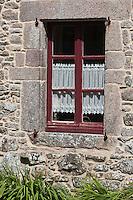 Europe/France/Normandie/Basse-Normandie/50/Manche/Presqu'île de la Hague/Gréville-Hague: Détail habitat au hameau de Gruchy ou naquit le peintre Millet