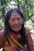 Aldeia Baú, Para State, Brazil. Elder Kayapo woman.