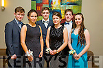 Alan Enright, Ellen Browne, Conor O'Brien, Rebecca Long, Aaron Ferris and Marta Zionkowska at the CBS The Green Students' Debs Ball at the Ballyroe Heights Hotel on Saturday night