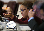 Nevada Assemblywoman Dina Neal, D-North Las Vegas, works in committee at the Legislative Building in Carson City, Nev., on Tuesday, Feb. 10, 2015. <br /> Photo by Cathleen Allison