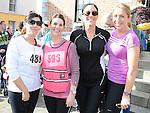 Julie Gibson, Noleen Devine, Rosaleen Byrne and Michelle Hughes who took part in the Saint Vincent de Paul sponsored 5Km run. Photo: Colin Bell/pressphotos.ie