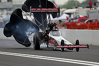 Apr 20, 2018; Baytown, TX, USA; NHRA top fuel driver Billy Torrence during qualifying for the Springnationals at Royal Purple Raceway. Mandatory Credit: Mark J. Rebilas-USA TODAY Sports