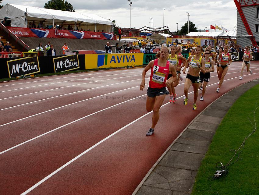 Photo: Richard Lane/Richard Lane Photography..Aviva British Grand Prix. 31/08/2009. Women's 1500m.