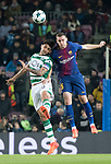 Thomas Vermaelen (r) of FC Barcelona competes for the ball with Alan Ruiz of Sporting CP during the UEFA Champions League 2017-18 match between FC Barcelona and Sporting CP at Camp Nou on 05 December 2017 in Barcelona, Spain. Photo by Vicens Gimenez / Power Sport Images