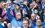 St Johnstone v Dundee United....17.05.14   William Hill Scottish Cup Final<br /> Stuart Cosgrove waves his scarf in support<br /> Picture by Graeme Hart.<br /> Copyright Perthshire Picture Agency<br /> Tel: 01738 623350  Mobile: 07990 594431