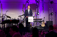 Prince William, Duke of Cambridge speaks at the Child Bereavement 25th birthday gala dinner at Kensington Palace in London. HRH is a patron of Child Bereavement UK. The charity works to help families to rebuild their lives after the devastation of child bereavement. Photo Credit: ALPR/AdMedia