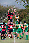 Papakura locks Scott Morrow & Jason Whitehead try to disrupt the lineout throw intended for Semisi Faukafa. Counties Manukau Premier Club Rugby Game of the Week between Drury & Papakura, played at Drury Domain on Saturday Aprill 11th, 2009..Drury won 35 - 3 after leading 15 - 5 at halftime.