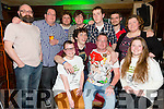 Front l-r Lucy Foley, Frank Hicks, Seamus Kelly,Lianne Hannafin,Paul Bowler,Anthony Riordan,Oscar Brophy, John Spillane,Sean O Boyle,Henry McCann and Chameleon comedian at The KY Comedy Alternative night at the Abbey Inn in aid of  Tralee Soup Kitchen on Thursday