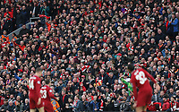 Liverpool fans celebrate after Divock Origi scored the opening goal <br /> <br /> Photographer Rich Linley/CameraSport<br /> <br /> UEFA Champions League Semi-Final 2nd Leg - Liverpool v Barcelona - Tuesday May 7th 2019 - Anfield - Liverpool<br />  <br /> World Copyright © 2018 CameraSport. All rights reserved. 43 Linden Ave. Countesthorpe. Leicester. England. LE8 5PG - Tel: +44 (0) 116 277 4147 - admin@camerasport.com - www.camerasport.com