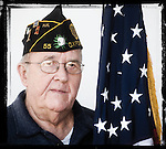Veteran Will St. Amand poses for a photo at a Veterans Day Program at the Oxford Conference Center in Oxford, Miss. on Thursday, November 11, 2010.