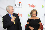 """One Life To Live's Jerry verDorn """"Clint Buchanan"""" and was on Guiding Light poses with Hillary B. Smith on the Red Carpet at New York Premiere Event for beloved series """"One Life To Live"""" on April 23, 2013 at NYU Skirball, New York City, New York - as The Online Network (TOLN) - OLTL - AMC begin airing on April 29, 2013 on Hulu and Hulu Plus.  (Photo by Sue Coflin/Max Photos)"""