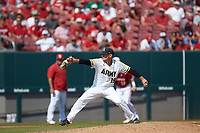 Army Black Knights relief pitcher Cam Opp (19) in action against the North Carolina State Wolfpack at Doak Field at Dail Park on June 3, 2018 in Raleigh, North Carolina. The Wolfpack defeated the Black Knights 11-1. (Brian Westerholt/Four Seam Images)