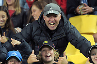 Fans in the grandstand during the Super Rugby match between the Hurricanes and Crusaders at Westpac Stadium in Wellington, New Zealand on Saturday, 10 March 2018. Photo: Dave Lintott / lintottphoto.co.nz