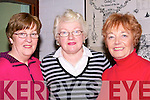 ARRIVE: Eileen O'Sullivan, Peg Kelly and Ita Dillon (Newcastle West). First to arrive to the Lee Strand Social in the Brandon  Hotel, Tralee on Saturday night..................