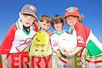 Paudie Fitzgerald, Johnny Finn, Oisin Dowling and Tóla Curtin  having fun at the Castlegregory Cúl Camps last week.