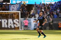 SAN JOSE, CA - SEPTEMBER 29: Guram Kashia #37 of the San Jose Earthquakes during a Major League Soccer (MLS) match between the San Jose Earthquakes and the Seattle Sounders on September 29, 2019 at Avaya Stadium in San Jose, California.