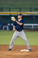 AZL Brewers second baseman Kenny Corey (2) on defense during a game against the AZL Cubs on August 1, 2017 at Sloan Park in Mesa, Arizona. Brewers defeated the Cubs 5-4. (Zachary Lucy/Four Seam Images)