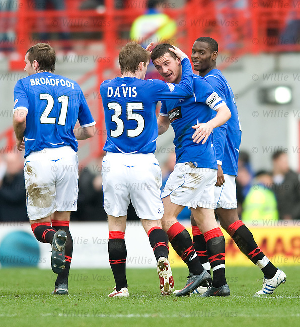 Barry Ferguson celebrates his goal for Rangers