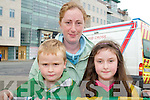 Kerry Team fans at Tralee Train Station on Monday evening. From left: Jamie Horgan, Karen Brosnan and Nicole Horgan..