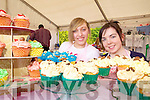 HOME BAKING: Sarah Sugrue and Shauna Long from Keel enjoying the Keel Country Market at Boolteens on Saturday.