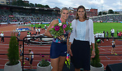 June 15th 2017, Bislett Stadion , Oslo, Norway; Diamond League Oslo Bislett Games;  Dafne Schippers of Netherland wins the  ladies 200m during at the IAAF Diamond League held at the Bislett Stadium