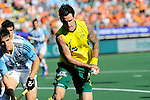 The Hague, Netherlands, June 13: Kieran Govers #27 of Australia tries to score during the field hockey semi-final match (Men) between Australia and Argentina on June 13, 2014 during the World Cup 2014 at Kyocera Stadium in The Hague, Netherlands. Final score 5-1 (3-0)  (Photo by Dirk Markgraf / www.265-images.com) *** Local caption *** Gonzalo Peillat #2 of Argentina, Kieran Govers #27 of Australia