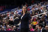 GREENSBORO, NC - MARCH 06: Head coach Joanne P. McCallie of Duke University during a game between Boston College and Duke at Greensboro Coliseum on March 06, 2020 in Greensboro, North Carolina.