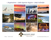 "2017 Wall Calendar: ""Inspirations: Lake Superior Region"" ~ Stunning photographs of Northern Minnesota in all seasons. Includes holidays, full/new moon phases, solstices. Created by the award-winning husband and wife photography team of Gary L. Fiedler and Dawn M. LaPointe of Radiant Spirit Gallery. 12 month wall calendar measures 17"" x 11"" when hanging, 11"" x 8.5"" when folded; printed on heavy, glossy stock. $19.95 (plus shipping and tax, if applicable)"